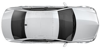 Silver car - top view Royalty Free Stock Image