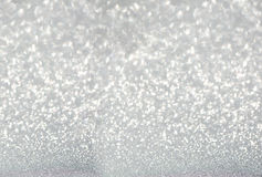 Silver defocused glitter background Royalty Free Stock Images