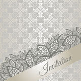 Silver special occasion invitation card Royalty Free Stock Images