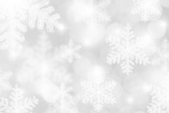 Silver White Snowflakes Background Royalty Free Stock Photography