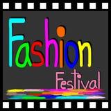 Simbolo di festival di modo sul film Immagini Stock
