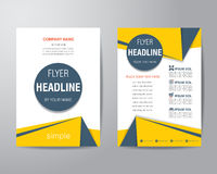 Simple triangle and circle brochure flyer design layout template Stock Photos