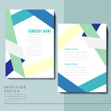 Simplicity brochure template design Stock Images