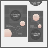 Simplicity brochure template design set Stock Photography