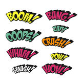 Simplicity colorful comic sound effects set Royalty Free Stock Image