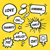 Simplicity comic speech bubbles set Royalty Free Stock Photos