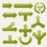 Simplicity green arrows set Royalty Free Stock Photo