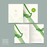 Simplicity half-fold brochure template design Stock Images