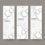 Simplicity hexagon element banners set Stock Photography