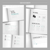 Simplicity one page website design Royalty Free Stock Photo