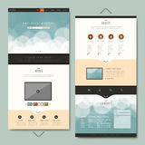 Simplicity one page website template design Royalty Free Stock Photos