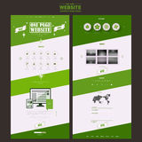 Simplicity one page website template design Royalty Free Stock Photography