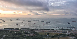 Singapore Port Royalty Free Stock Photography