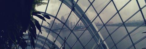 Singapore skyline through dome Stock Images