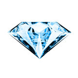 Single blue diamond Royalty Free Stock Images