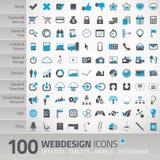 Sistema de los iconos universales para el webdesign Foto de archivo