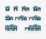 Sistema del icono de la casa Fotografía de archivo libre de regalías