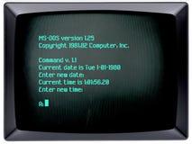 Sistema operativo del PC dell'IBM Immagine Stock Libera da Diritti