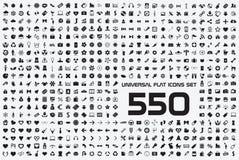 Sistema universal de 550 iconos Imagen de archivo