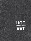 Sistema universal de 1100 iconos Fotos de archivo libres de regalías