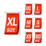 Size clothing labels Royalty Free Stock Photography