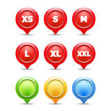 Size Labels Royalty Free Stock Images