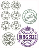 Size stamps set Stock Image