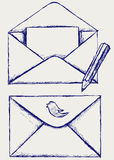 Sketch envelope Stock Photography