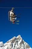 Ski lift Matterhorn Royalty Free Stock Image