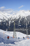 Ski lifts in Gaschurn Stock Photos