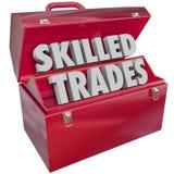 Skilled Trades Toolbox Technician Mechanic Blue Collar Work Job Stock Images