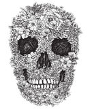 Skull Made Out of Flowers Vector Illustration Stock Image