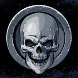 Skull in stone Stock Image