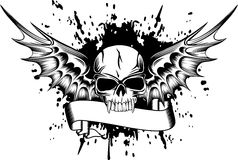 Skull with wings 2 Royalty Free Stock Images