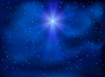 Sky and Christmas star Royalty Free Stock Photos