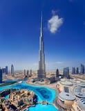 A skyline of Downtown Dubai with the Burj Khalifa Stock Photo
