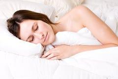 Sleeping bright woman Stock Photo