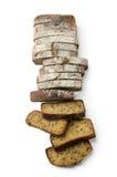 Slice of brown bread Stock Photos