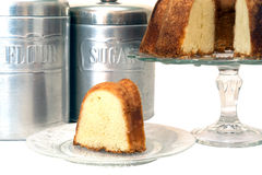 Sliced Pound Cake Isolated Royalty Free Stock Photos