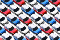 Small cars in new car lot, MINI Stock Images
