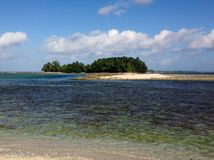 A small island off the cost of Fiji in the South Pacific Stock Image
