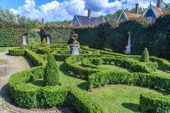Small park with hedges Stock Images