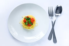 Small pasta portion Stock Images