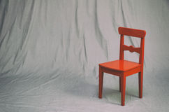 Small red chair Stock Photo