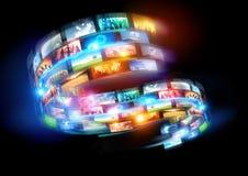 Smart Media World Royalty Free Stock Image