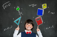Smart schoolboy education Royalty Free Stock Images