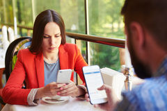 Smartphone addiction Royalty Free Stock Images