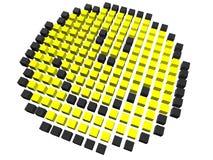 Smiley - pixelated Imagens de Stock