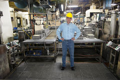 Smiling Man Work, Industrial Manufacturing Factory Stock Photography