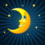 Smiling moon Royalty Free Stock Photo